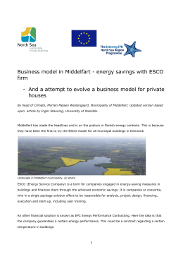 Business model in Middelfart - energy savings with ESCO firm