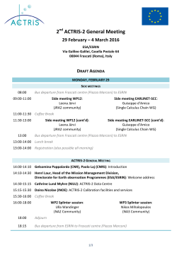 ACTRIS-2_GA2_Frascati2016_detailed draft agenda_2016-02-24
