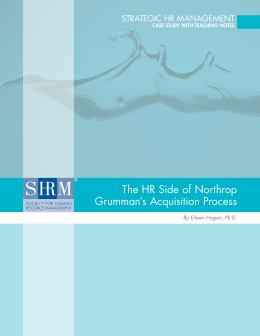 The HR Side of Northrop Grumman`s Acquisition Process