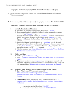 Geography: Basics of Geography/Skills Handbook Unit (p. 1—15