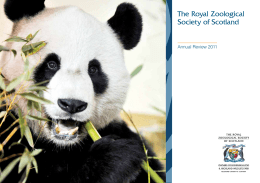 president`s statement - The Royal Zoological Society of Scotland
