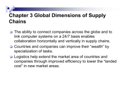 Global Dimensions of Supply Chains