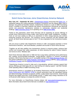 SolvIt Home Services Joins GreenHomes America Network