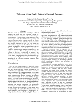 Web-Based Virtual Reality Catalog in Electronic Commerce