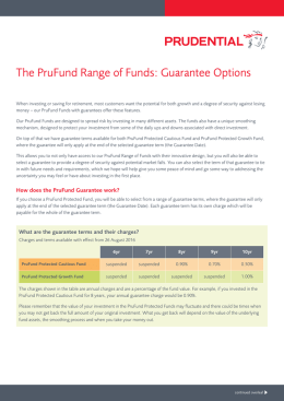 The PruFund Range of Funds: Guarantee Options
