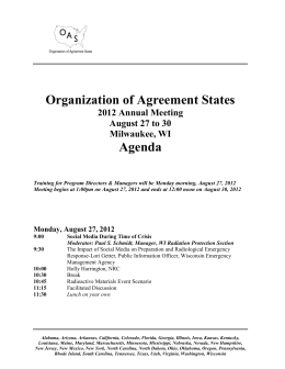 OAS Agenda5 - Organization of Agreement States