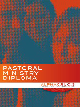 pastoral ministry diploma