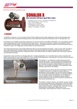 Non Intrusive full bore spool flow meter The EESIFLO Sonalok