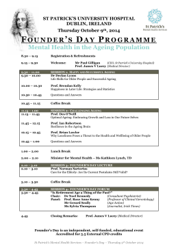 FOUNDER`S DAY PROGRAMME