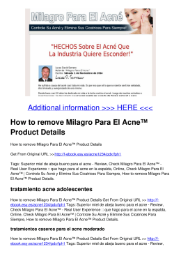 How to remove Milagro Para El Acne™ Product