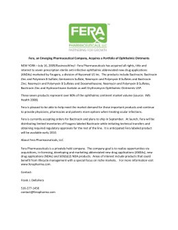 Fera, an Emerging Pharmaceutical Company, Acquires a Portfolio of