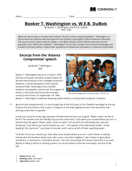 CommonLit | Booker T. Washington vs. W.E.B. DuBois