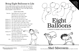 Eight Balloons Activity Booklet