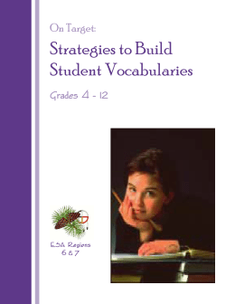 On Target: Strategies to Build Student Vocabularies