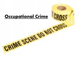 Power Point: Occupational Crime
