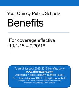 Benefits Packet 2015/2016