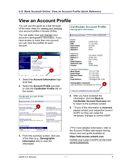 View an Account Profile