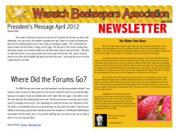 NEWSLETTER - The Wasatch Beekeepers Association