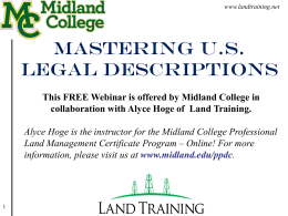 Mastering U.S. LEGAL DESCRIPTIONS