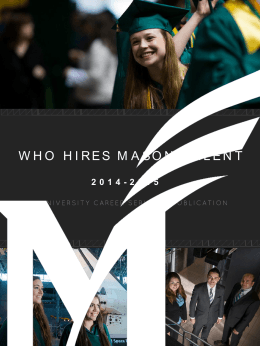 WHO HIRES MASON TALENT - University Career Services