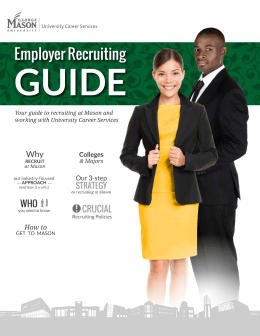 Employer Recruiting - University Career Services