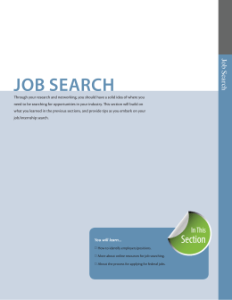 job search - University Career Services