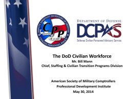 The DoD Civilian Workforce - American Society of Military