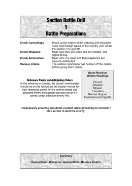Section Battle Drills