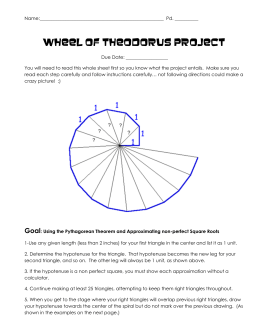 Wheel of Theodorus Project