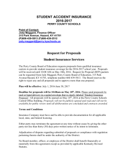 Student Insurance - Perry County Schools