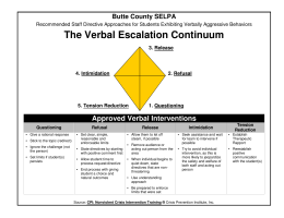 The Verbal Escalation Continuum
