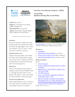 Lesson Plan: Manifest Destiny: War on the Plains