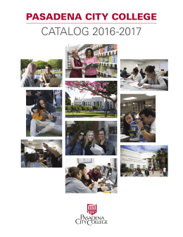 Catalog 2016-2017 - Pasadena City College