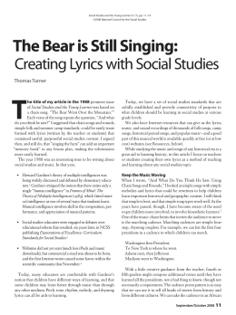 The Bear is Still Singing - National Council for the Social Studies