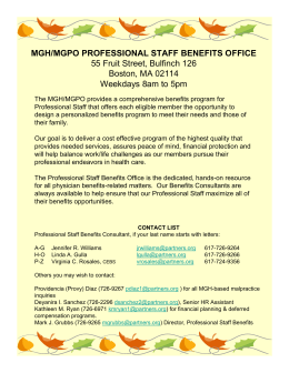 mgh/mgpo professional staff benefits office