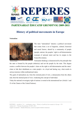 explanatory notes-History of political movements in Europe