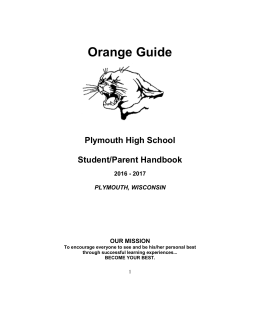 Orange Guide - Plymouth School District