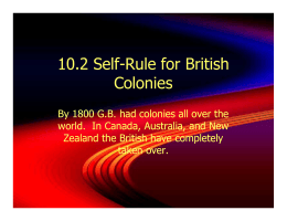 10.2 Self-Rule for British Colonies