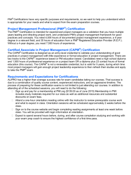 Project Management Professional (PMP ) Certification Certified