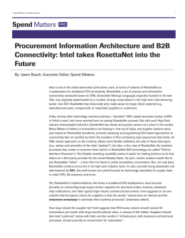 Intel takes RosettaNet into the Future