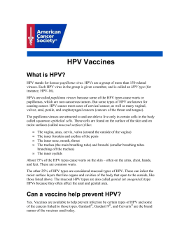 HPV Vaccines - American Cancer Society