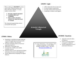 Aristotle`s Rhetorical Triangle