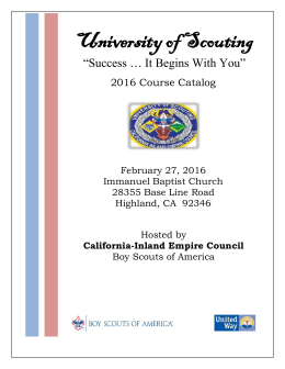 University of Scouting - California Inland Empire Council