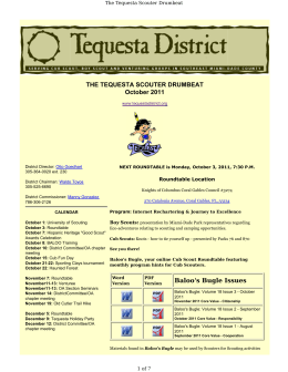 THE TEQUESTA SCOUTER DRUMBEAT October 2011 Baloo`s
