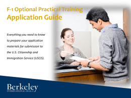 Application Guide - Berkeley International Office