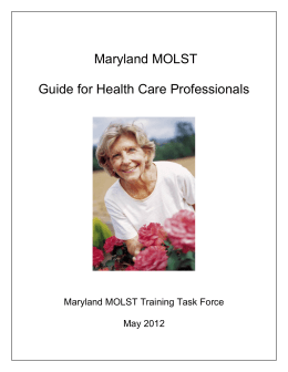MOLST Guide for Health Care Professionals