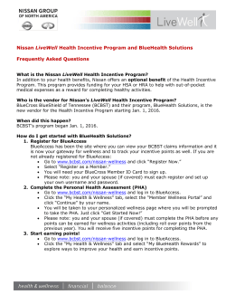 Nissan LiveWell Health Incentive Program and