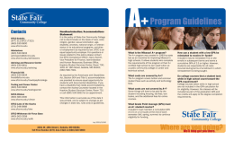 Program Guidelines - State Fair Community College