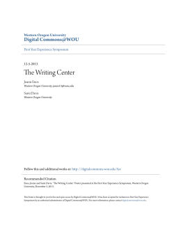 The Writing Center - Digital Commons @ WOU