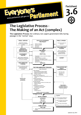 The Legislative Process - The Making of an Act